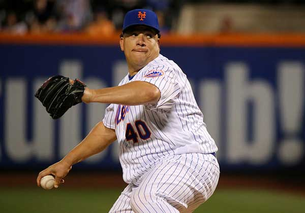 Bartolo Colon Pitching for the New York Mets
