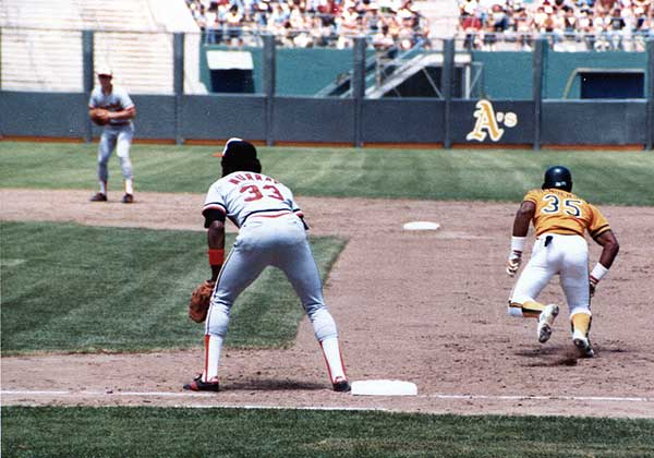 Rickey Henderson Making the First Out